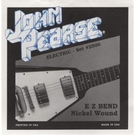 John Pearse 2500 Pure Nickel Wound Super EZ Bends Electric Strings 10-46