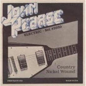 John Pearse 2550 Pure Nickel Wound Super EZ Bends Electric Strings 10-52 Country