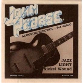 John Pearse 2750 Nickel Wound Electric Strings 12-52 Jazz Swing