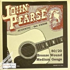 John Pearse 300M 80/20 Bronze Acoustic Strings 13-56 Medium