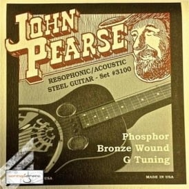 John Pearse 3100 Phosphor Bronze Acoustic Strings 16-59 Resophonic