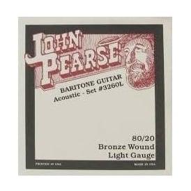 John Pearse 3260L 80/20 Bronze Baritone Standard Tuning Strings Light