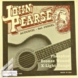 John Pearse 500XL Phosphor Bronze Acoustic Strings 10-47 Extra Light