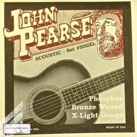 John Pearse 500XL Phosphor Bronze Acoustic Strings 10-47 Extra Light