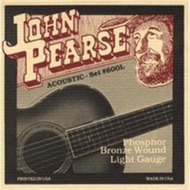 John Pearse 600L Phosphor Bronze Acoustic Strings 12-53 Light Gauge