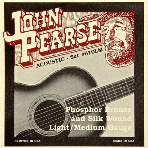 john pearse 610lm silk wound phosphor bronze acoustic strings 12 53. Black Bedroom Furniture Sets. Home Design Ideas