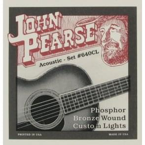 John Pearse 640 Custom Gauge Phosphor Bronze Acoustic Strings 12-55