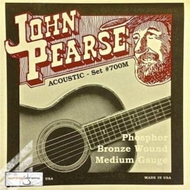 John Pearse 700M Phosphor Bronze Acoustic Strings 13-56 Medium Gauge