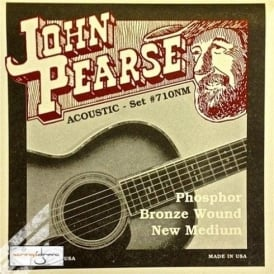 John Pearse 710NM Phosphor Bronze Acoustic Strings 13-55 New Medium