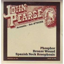 John Pearse 790NR Resophonic Phosphor Bronze Spanish Neck 13-56 Acoustic Guitar Strings