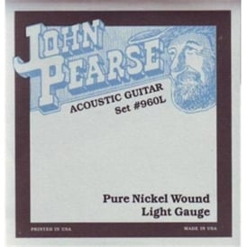 John Pearse 960L Nickel Acoustic-Electric Strings 12-54 Light