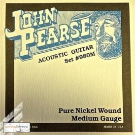 John Pearse 980M Nickel Acoustic-Electric Strings 13-57 Medium