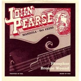 John Pearse 2240 Tenor Mandola Strings Set, Phosphor Bronze Custom Gauge, 12-45
