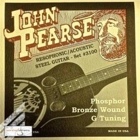 John Pearse 3100 Phosphor Bronze Acoustic Strings 16-59 Resophonic
