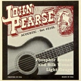 John Pearse 510L Silk Wound Phosphor Bronze Acoustic Strings 11-49