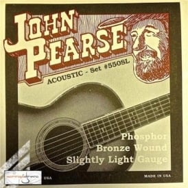 John Pearse 550SL Phosphor Bronze Acoustic Strings 11-50 Slightly Light