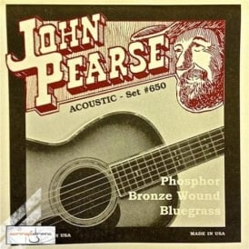 John Pearse 650BG Phosphor Bronze Acoustic Strings 12-56 Bluegrass