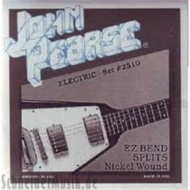 John Pearse 2510 Pure Nickel Wound Super EZ Bends Electric Strings 10-52