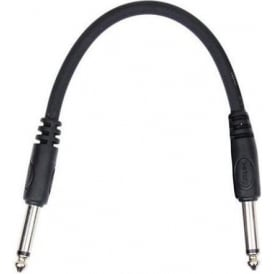 "Kirlin 6"" Straight Moulded Black Patch Cable for Guitar Effects"