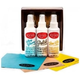 Kyser Guitar Polish Care Kit 3 Bottles & 3 Cloths