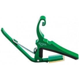 Kyser KG6 Quick Change Emerald Green Trigger 6-String Guitar Capo for Electric or Acoustic