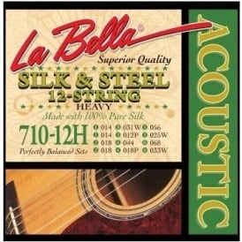 La Bella 710-12H C-Tuning 12-String Silk and Steel Set - 14-68 Heavy Gauge