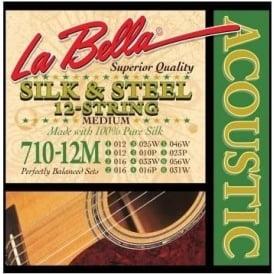 La Bella 710-12M 12-String Silk & Steel Acoustic Strings - 12-56 Gauge