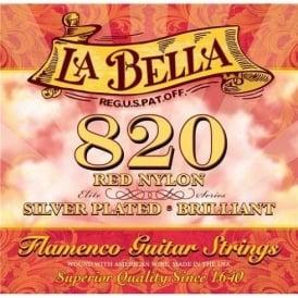 La Bella 820 Flamenco Medium Tension Classical Guitar Strings