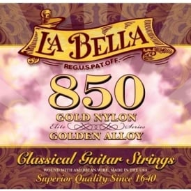 La Bella 850 Elite, Gold Nylon & Golden Alloy, Classical Guitar Strings