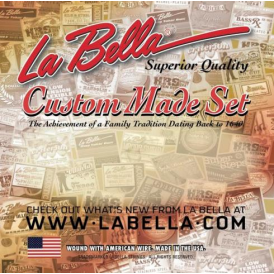 La Bella Electric Guitar Stainless Steel Flatwound 12-String 11-52 Gauge