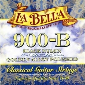 La Bella Golden Superior Black Nylon Classical Guitar Strings