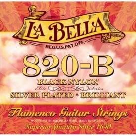 La Bella 820-B Elite Flamenco with Black Trebles Classical Guitar Strings Medium Tension