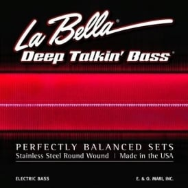 La Bella Deep Talkin Bass, Stainless Steel, 44-128, 5-String, Medium Scale