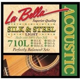 LaBella 710-L Silk & Steel Light Acoustic Guitar Strings