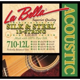 LaBella 710-12L Silk & Steel Guitar Strings 12-Strings Light