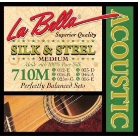 LaBella 710-M Silk & Steel Medium Acoustic Guitar Strings 12-56 Gauge