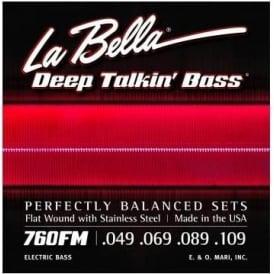 LaBella 760FM-XL 4-String Deep Talkin' Bass Stainless Steel Flat Wound 49-109 X-Long Scale