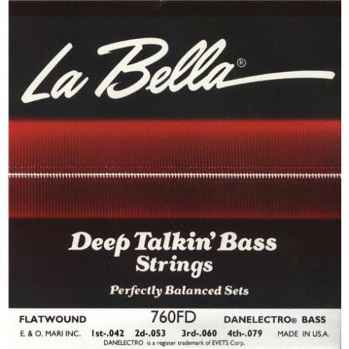 labella danelectro flatwound 4 string 42 79 short scale bass guitar strings. Black Bedroom Furniture Sets. Home Design Ideas