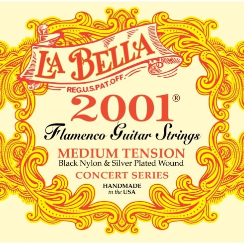 LaBella Flamenco Guitar Strings Medium Tension