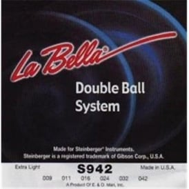 LaBella Hard Stainless Steel Steinberger Double Ball End 09-42 Extra Light