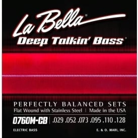La Bella Original 1954 Fender Style 6-String Med Scale Bass Guitar Strings