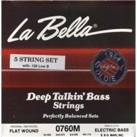La Bella Original 1954 Flatwound Bass Guitar Strings 52-128 5-String