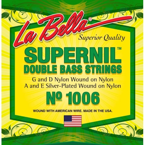 SUPERNIL Double Bass Strings No. 1006 with Nylon Filament Core
