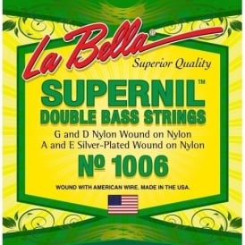 La Bella Supernil Double Bass Strings with Nylon Filament Core