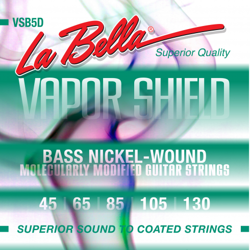 VAPOR SHIELD 5-String Bass, Nickel Plated, 45-130, Long Scale