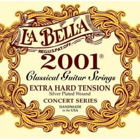 LaBella 2001 Classical Nylon Guitar Strings Extra Hard Tension