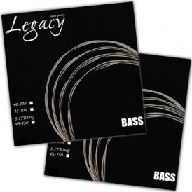Legacy 4-String Nickel Roundwound Bass Guitar Strings 40-100 Long Scale Pack of 2