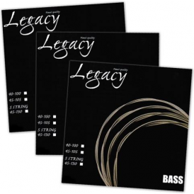 Legacy 4-String Nickel Roundwound 45-105 Long Scale Bass Guitar Strings 3-Pack