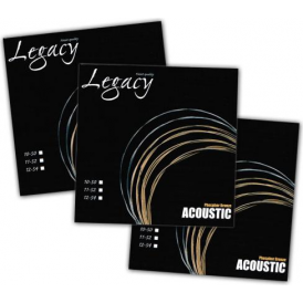 Legacy Tru-Tone Phosphor Bronze Acoustic Guitar Strings 12-54 Pack of 3
