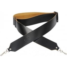 """Levy's Leathers M9-BLK 2"""" Wide Leather Tenor Black Banjo Strap"""